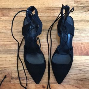 Zara Lace Up Low Heel Shoes